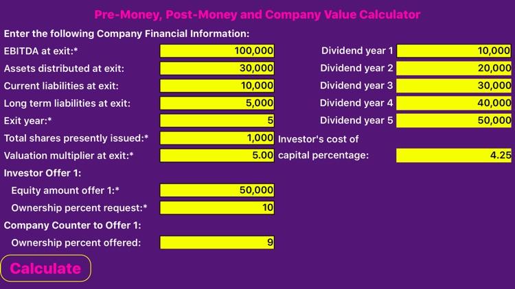 Company Valuation Calculator