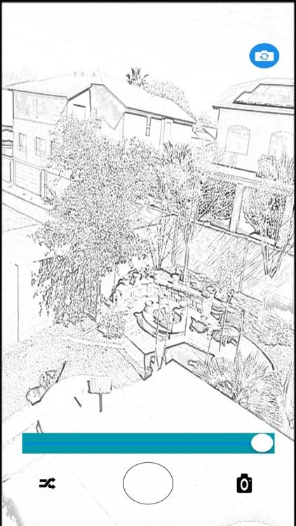 Video Recorder Pencil Sketch
