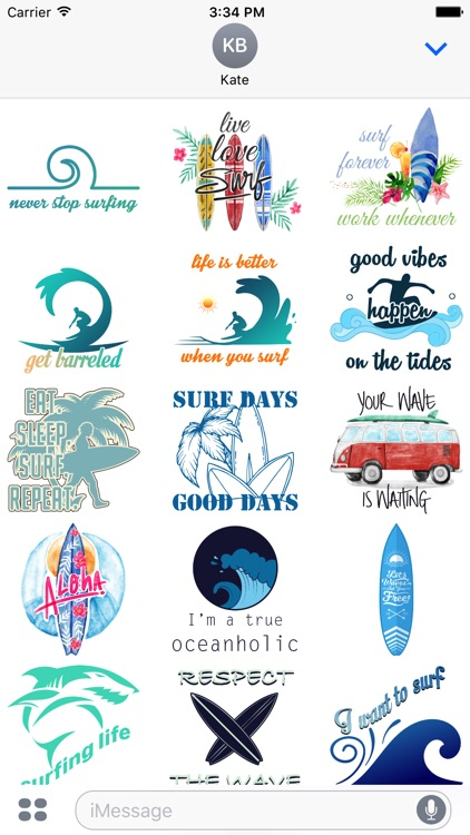 Surf Stickers Pack 1