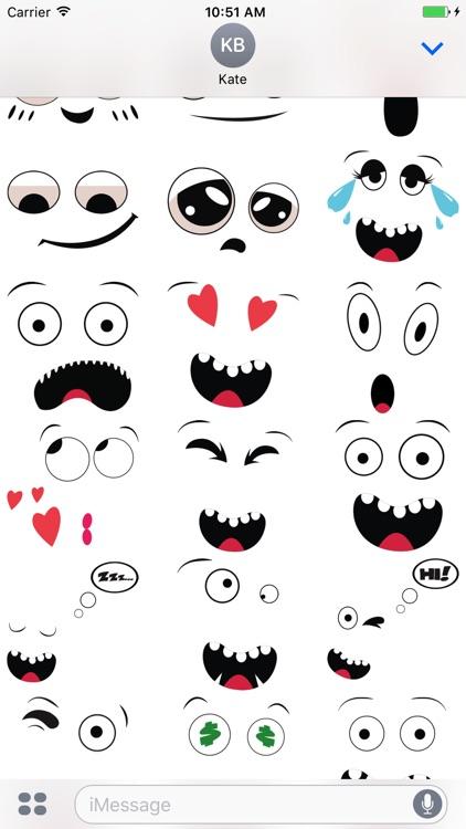 Cute Face emoji stickers
