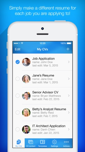 Amazing ITunes   Apple For Resume Building App