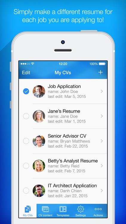 Resume builder resume creator by pocketsoft llc resume builder resume creator altavistaventures Images
