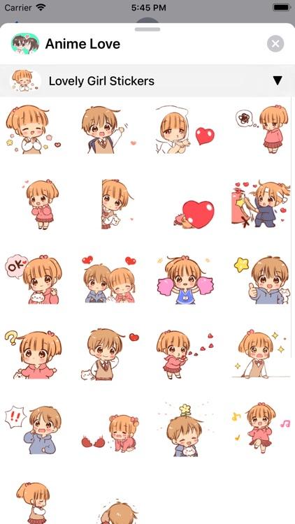 Anime Love Sticker screenshot-4