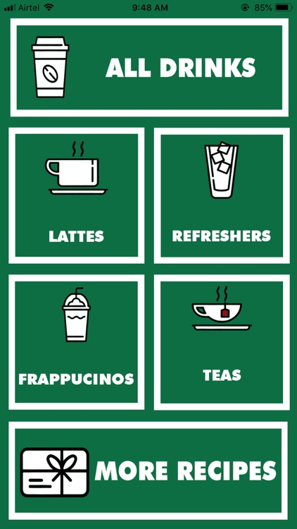 Recipes for Starbucks
