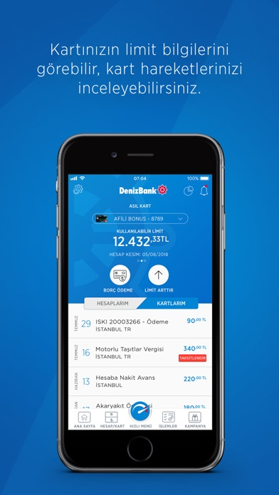 Screenshot for MobilDeniz (DenizBank Mobil) in Turkey App Store
