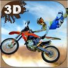 Loco moto paseo truco simulador 3D - realizar acrobacias extremas conductor con moto en la suciedad icon