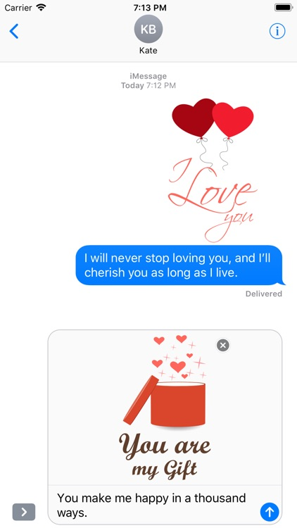 Love Message - Flat Stickers screenshot-3
