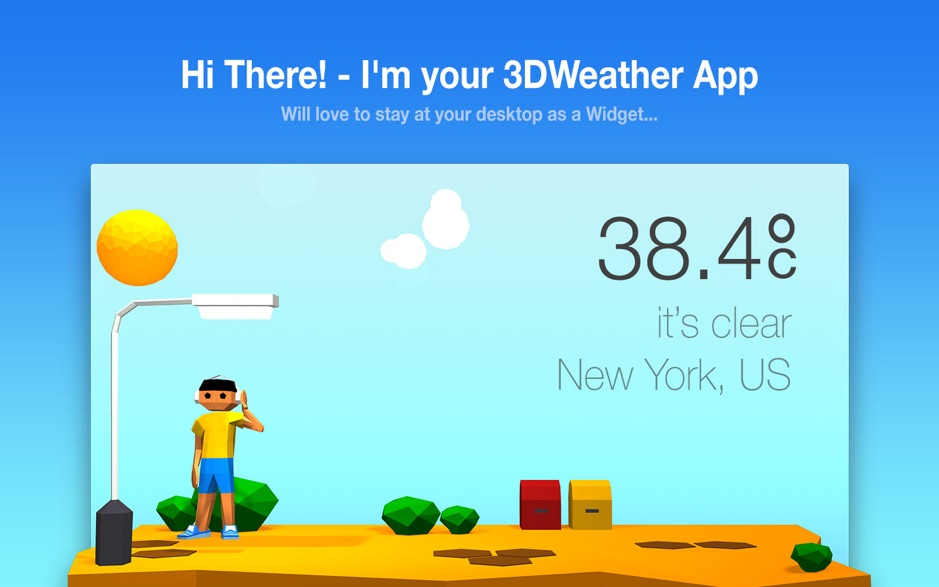 3DWeather Mac 破解版 非常漂亮的3D动画天气工具-麦氪派