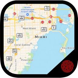 Maps+ Hide Photos inside Maps Using Fingerprint