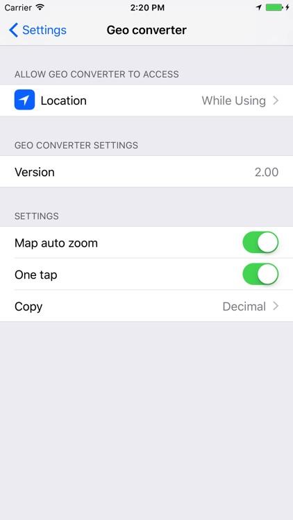 Geo converter HD lite screenshot-4