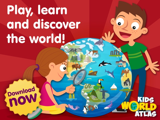 The Best Ipad Apps For Toddlers New Atlas >> Kids World Atlas On The App Store