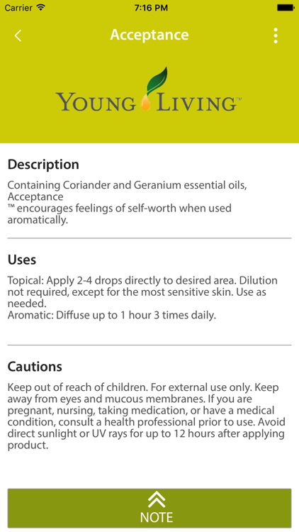 Essential Oils Reference Guide App