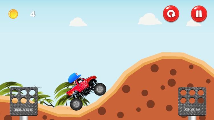 Monster Truck - Hill Racing screenshot-4