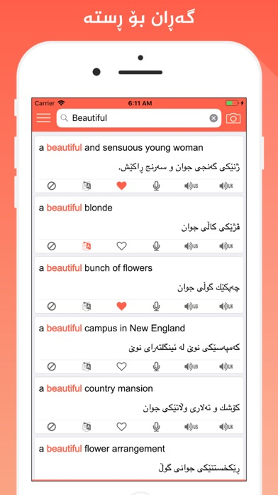 Screenshot for Rebin Dict Plus - Kurdish in Austria App Store
