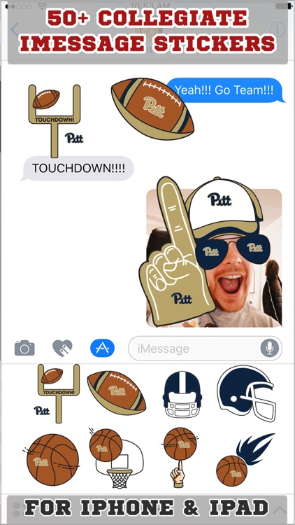 Pittsburgh Panthers Stickers PLUS for iMessage