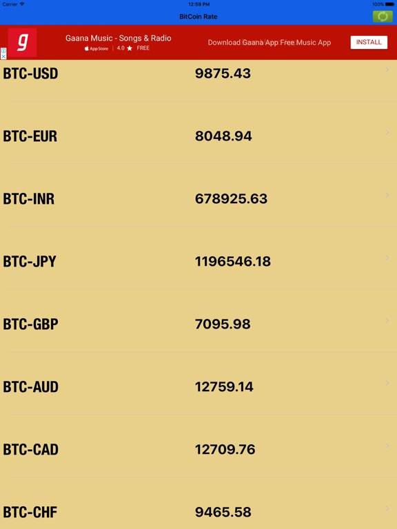Screenshot 2 For Bitcoin Live Rate