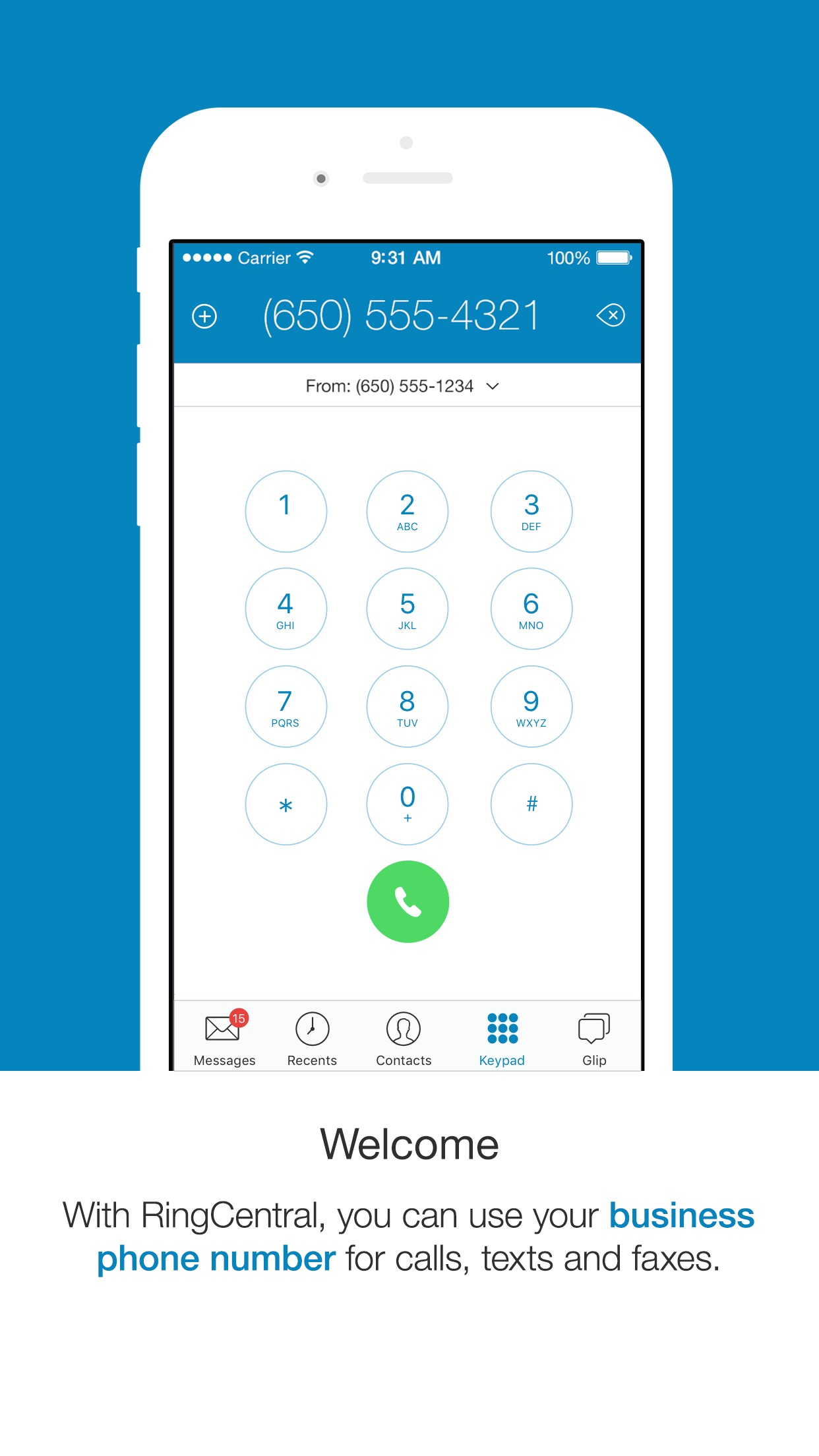 RingCentral Phone Screenshot