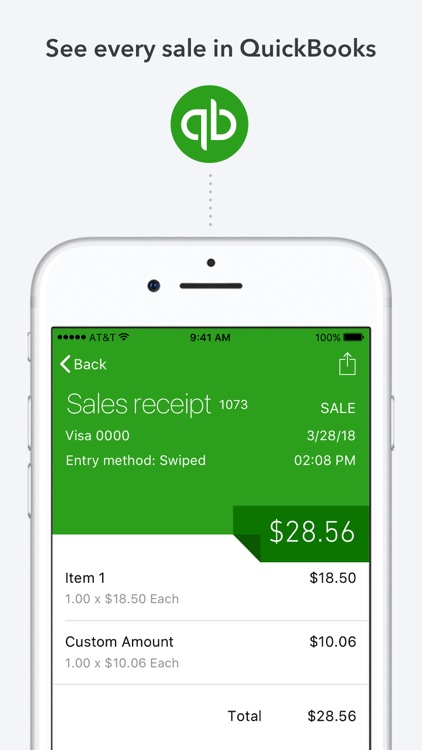 QuickBooks GoPayment POS screenshot-2