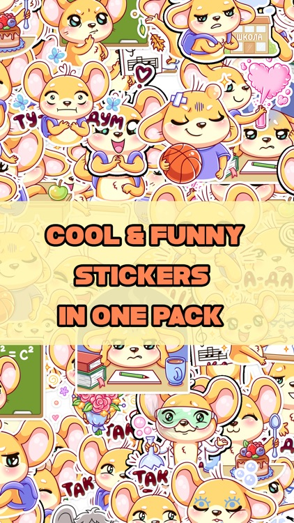 Barney The Mouse Stickers
