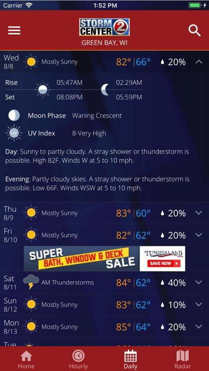 WBAY WEATHER - StormCenter 2 screenshot-3