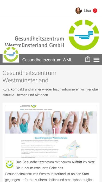 Gesundheitszentrum WML screenshot 1