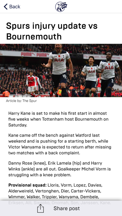 Spurs Web - Tottenham Hotspur screenshot two