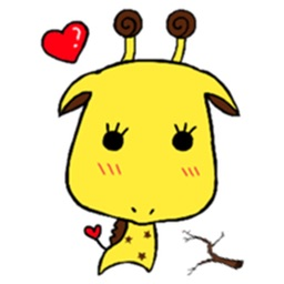 Giraffe with Big Head Sticker
