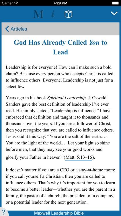 Maxwell Leadership Bible screenshot-3