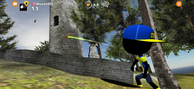 Stickman Disc Golf Battle Screenshot