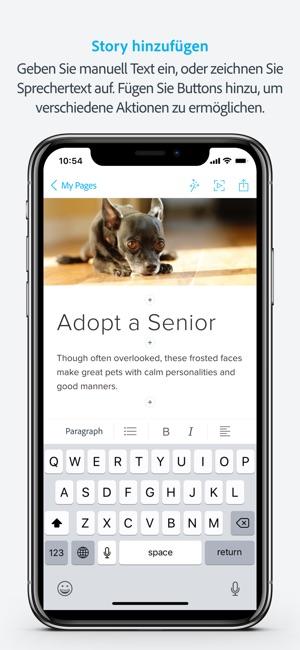Adobe Spark Page im App Store