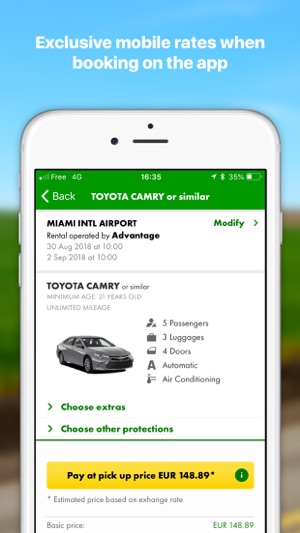 Europcar Car Hire Van Hire On The App Store