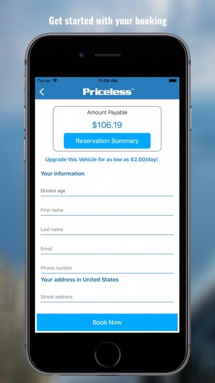 Priceless Car Rental screenshot-3