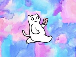 Pun Kitty Stickers