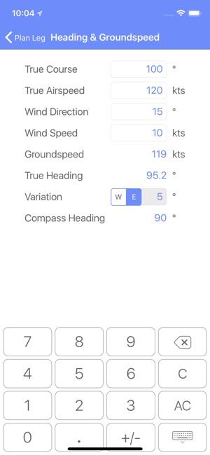 FlightReady E6B Screenshot