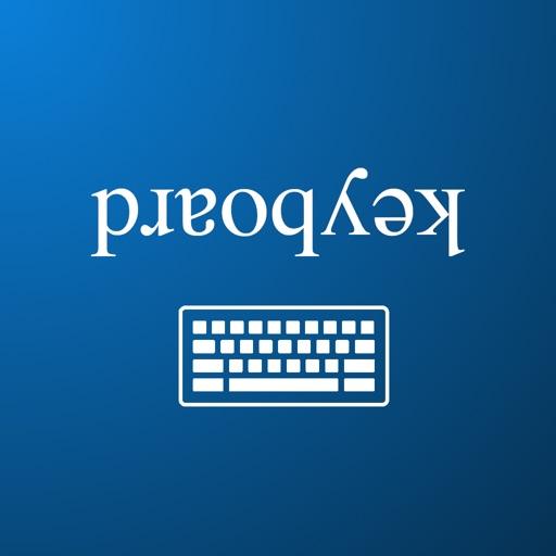 Upside down text keyboard