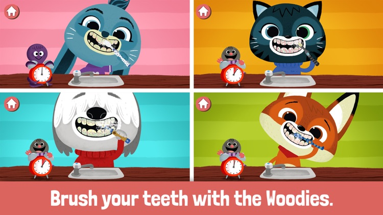 WoodieHoo Brushing Teeth screenshot-0
