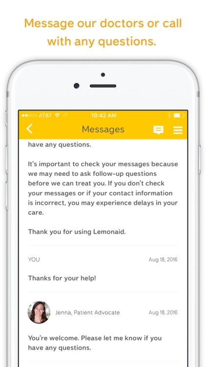 Lemonaid: same day online care screenshot-3