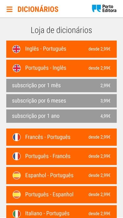 Screenshot of Dicionário Porto Editora App