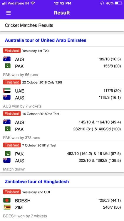 Live Cricket Score 2018 screenshot-5