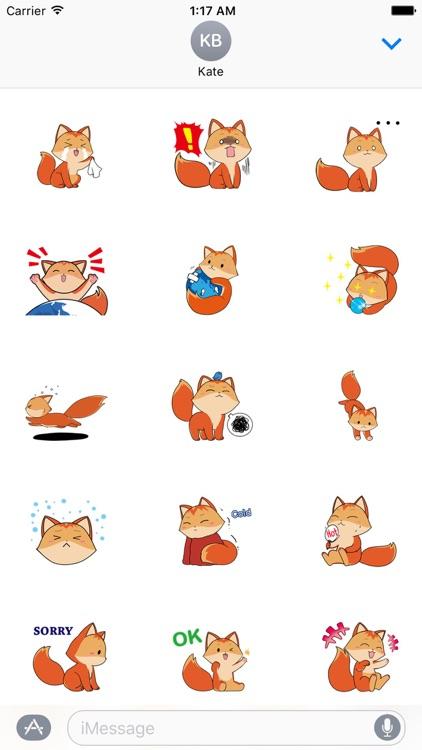 Lovely Baby Fox Sticker