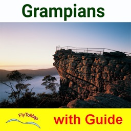 Grampians NP GPS and outdoor charts with guide