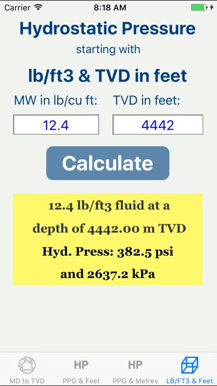 OilField Hydrostatic Pressure. screenshot-3