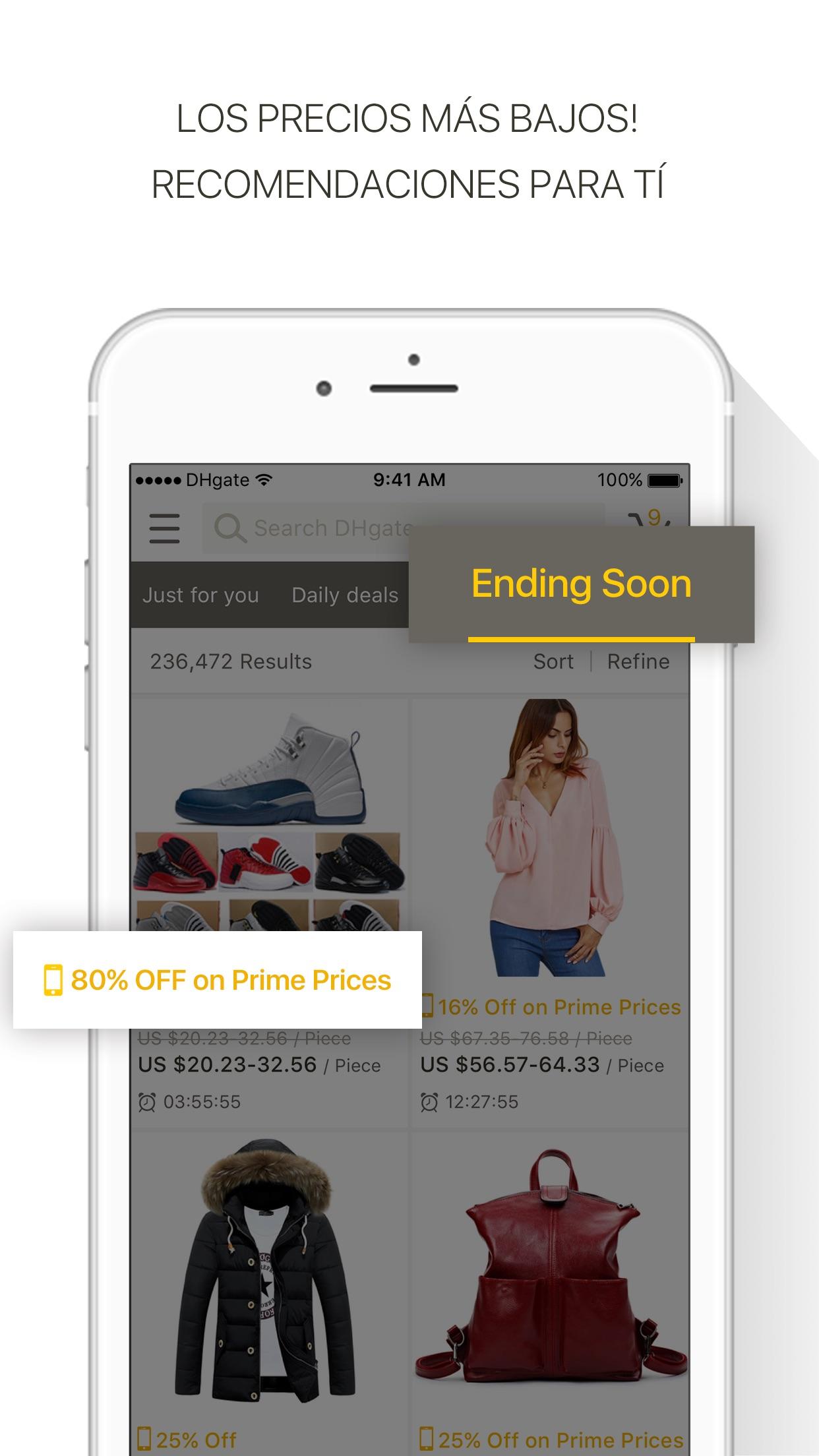 DHgate tienda online mayorista Screenshot