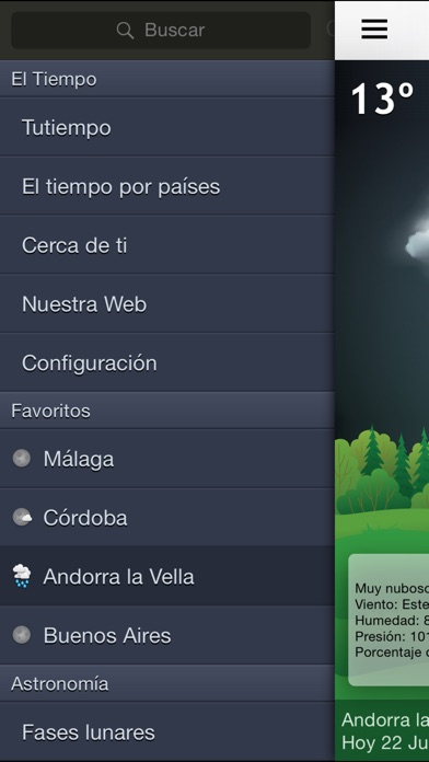 Screenshot for El Tiempo hora a hora in Peru App Store