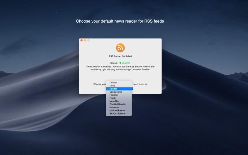 RSS Button for Safari Screenshots