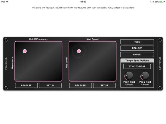 FilterMorph AUv3 Audio Plugin screenshot 7
