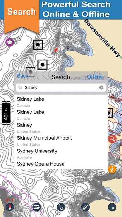 Lake Sidney Lanier gps offline chart for boaters screenshot three