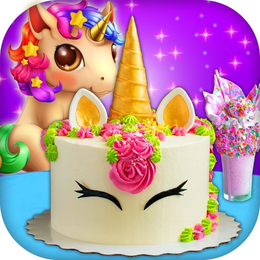 Unicorn Food Party Cake Slushy