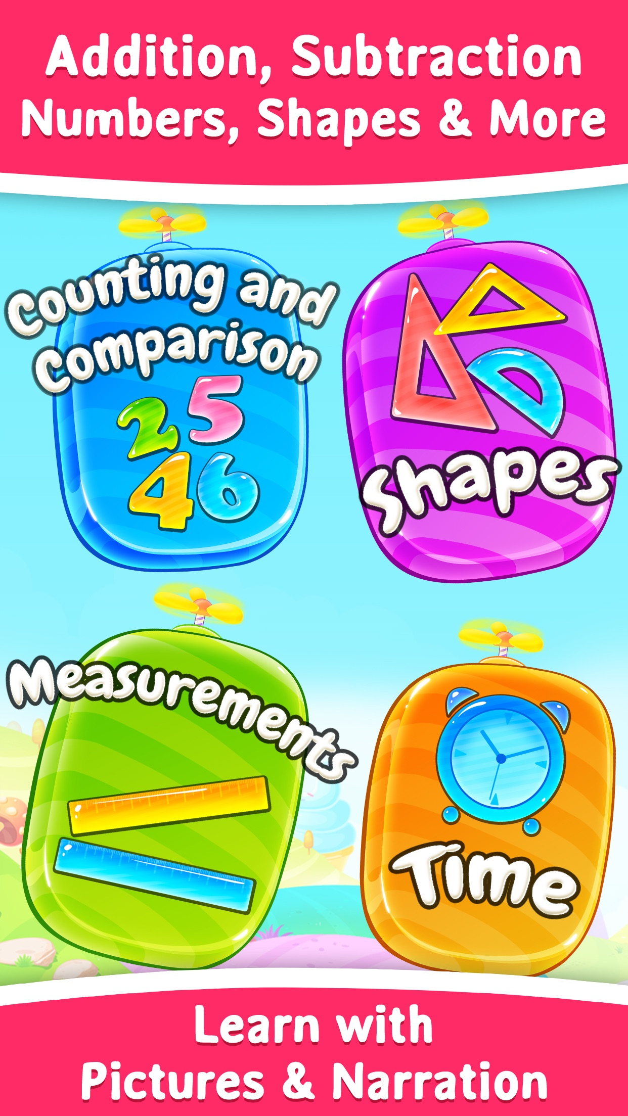 1st Grade Math Learning Games Screenshot