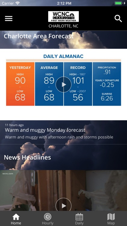 WCNC Charlotte Weather App screenshot-1